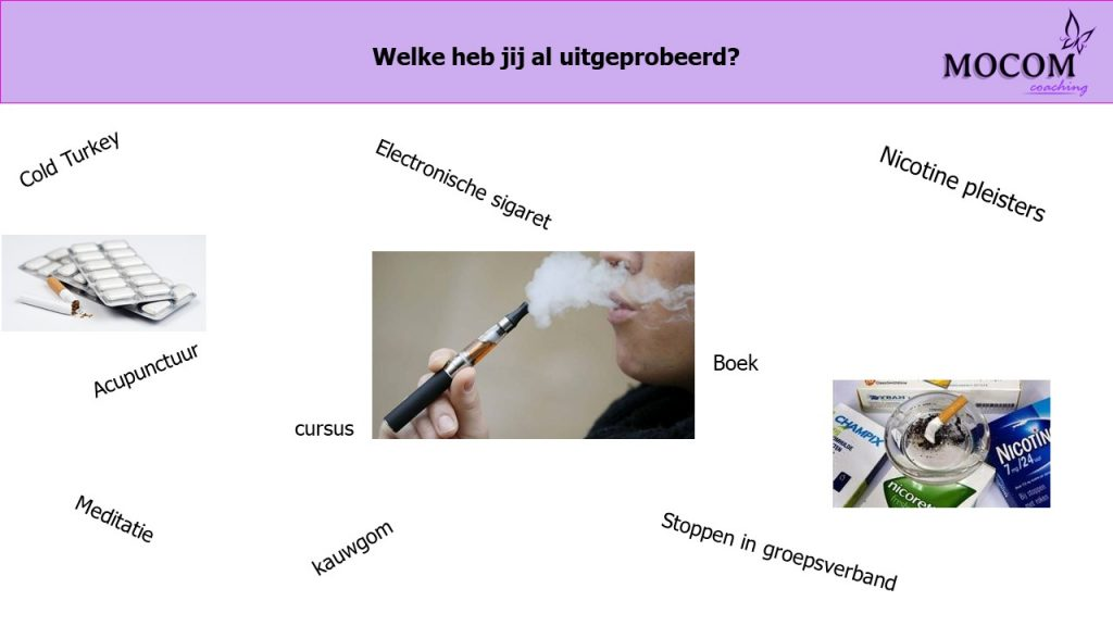 Hulpmiddelen stoppen met roken