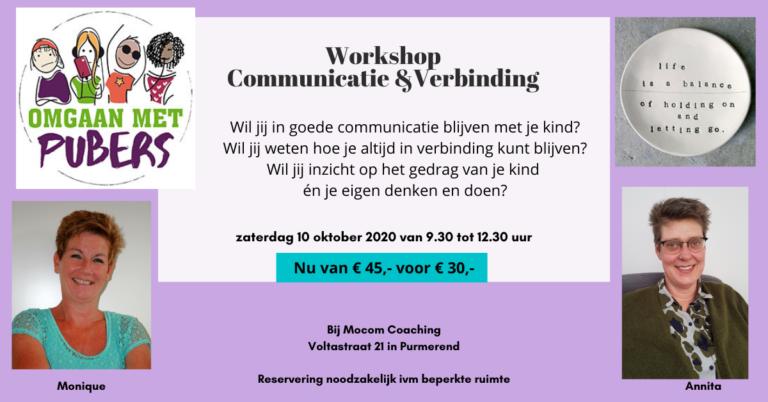 Workshop Communicatie en Verbinding met je puber